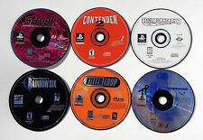 PLAYSTATION 1 PS1 VIDEO GAME LOT STREAK HOVERBOARD RACING CONTENDER 2 COOL BOARD