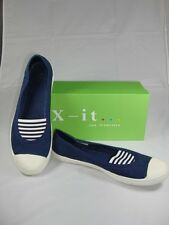 James Oliver Casual Flat Navy slip on walking shoes Made In Italy Size  9 NWB