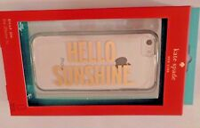 NIP kate spade new york Snap Case iPhone 5c Sheer Clear Gold Hello Sunshine