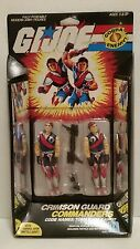 GI JOE TOMAX AND XAMOT CRIMSON GUARD COMMANDERS VINT '85 *SEALED IN ORIGINAL PKG