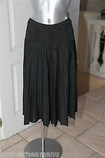 luxueuse jupe plissée noire en laine MAJE modèle elise TAILLE M (38-40)