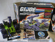 1988 vintage GI Joe SWAMPMASHER vehicle car 80s Hasbro toy w/ box papers ARAH
