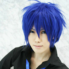 VOCALOID kaito magnet Short Blue Cosplay Party Wig Hair