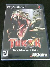 Turok Evolution Sony PlayStation 2, 2002 Game PS2 Booklet Dinosaurs Mature Blood