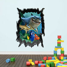 Finding Nemo 3D Hole View Wall Stickers Kids Room Nursery Decor Art Mural Decal