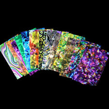 3D Magic Colors Foil Glass Glitter Nails Shell Arts Trend Shattered Stickers