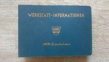 Original Katalog Werkstatt-Informationen Auto Union DKW JUNIOR F11 Band 2