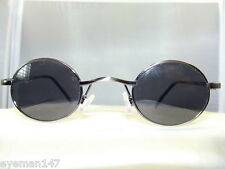LENNON SMALL ROUND ANTIQUE SILVER-POLARIZED GREY SUNGLASSES 100% UV PROTECTION