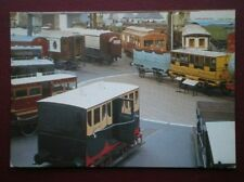 POSTCARD NATIONAL RAIL MUSEUM - VIEW OF SOME OF THE CARRIAGES