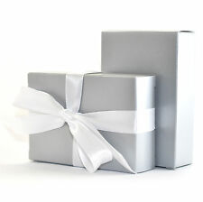 """The Finest Quality & Pre-Glued"" 50 x SILVER Wedding Cake Box Favour Gift"