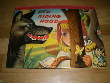 RED RIDING HOOD bancroft london c. 1961 artia POP UP BOOK