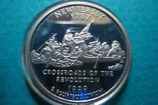 """1787  """"S-PROOF""""  NEW JERSEY STATE/WASHINGTON COMMEMORATIVE QUARTER, Uncirculated"""