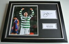 Neil Lennon SIGNED FRAMED Photo Autograph 16x12 display Celtic Football & COA