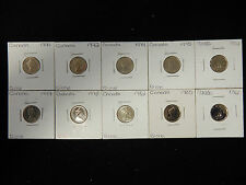 Early Canada 10 Cent Dimes - 10 pcs Lot