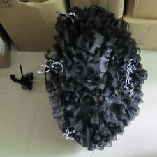 Gothic Lolita Layer Lace Umbrella Parasol EGL Steampunk Cosplay Black White Rose