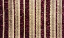 """Upholstery Chenille fabric Burgundy Stripe Drapery fabric by the yard 57"""" Wide"""