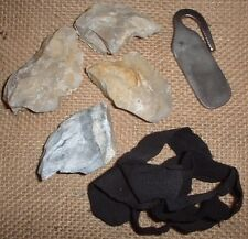 Natural Flint And Forged Steel Striker Fire Kit With Char Cloth