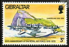 RAF SHORT SUNDERLAND S.25 Flying Boat Seaplane Aircraft Stamp (Gibraltar)
