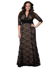 1 Women Long Maxi Formal Half Sleeve Lace Evening Party dress Plus Size 18W-20W