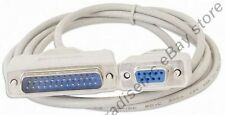 Lot100 6ft DB9 FEMALE~DB25 pin MALE Serial Null Modem Data Cable,Nul wired Cord