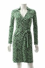 Diane Von Furstenberg New Jeanne Two Silk Jersey Wrap Dress / Green / RRP: £350