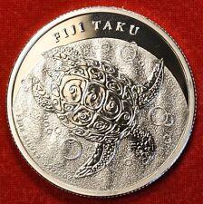 2013 FIJI TAKU DESIGN 1 oz .999% SILVER ROUND BULLION COLLECTOR COIN