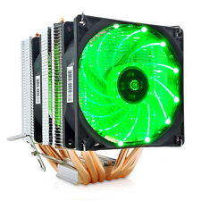 6 Heat Pipes CPU Cooler Radiator Double Fan with LED Compatibility Intel LGA 775
