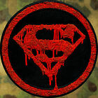 ZOMBIE HUNTER TACTICAL: SUPERMAN DEATH BLOOD PATCH IRON-ON ~THE WALKING DEAD