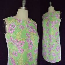 RARE LILLY PULITZER Vtg 60s Originals Worth shift Seahorses Limeade Floaters 4