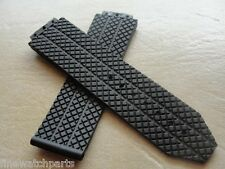 24MM RUBBER SILICONE WATCH BAND STRAP FOR HUB BIG BANG 44-45mm BLACK