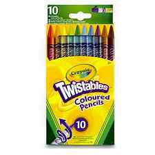 Crayola 10 Twistables Coloured Pencils Crayons School Stationery Pencil Case Fun