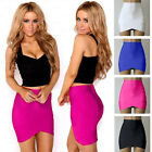Womens Sexy Asymmetric Pencil Bandage High Waist Wrap Tight Party Skirt Stretch
