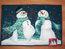 "Holiday Christmas Snowman Accent Rug NWT 20"" x 30"" St Nicholas Square"