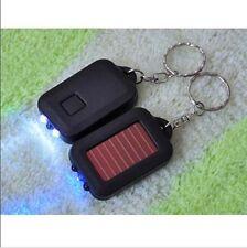Solar Power Flashlight Mini Portable 3 LED Light Key Chain Ring Torch Safety 2Ff
