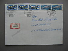 GERMANY BRD, R-cover FDC 1991, rich franking Aviation Junkers F13 Zeppelin