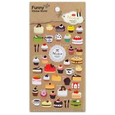 CUTE PATISSERIE STICKERS Dessert Bakery Scrapbook NEW Korean Paper Sticker Sheet