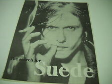 SUEDE Brett Anderson 1997 full-page mag Image PROMO DISPLAY PIECE in mint cond