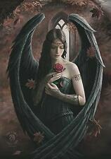 """ANNE STOKES FLAGGE / FAHNE """"ANGEL ROSE"""" POSTER FLAG POSTERFLAGGE"""