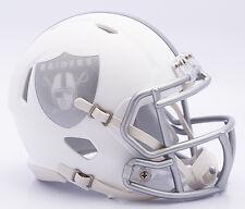 Oakland Raiders Riddell NFL MATTE WHITE ICE SPEED Mini Helmet Brand New 2016