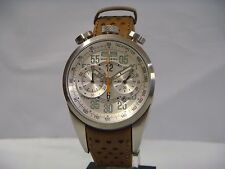 BOMBERG CHRONOGRAPH DATE BLUE LEATHER STRAP MENS WATCH NS39CHSS.SI0.1.LBE NEW
