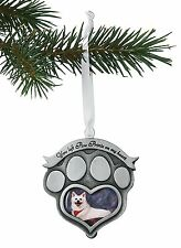 Pet Memorial Photo Ornament With Card -Paw Prints on My Heart - Cat Dog Memorial