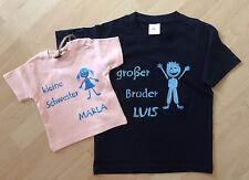 T-Shirt  GESCHWISTERSHIRT kleine GROßE Schwester kleiner GROßER BRUDER handmade