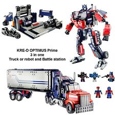 KRE-O Transfoprmers Optimus Prime 3 in 1 Truck or Robot & Battle Station 542 pcs