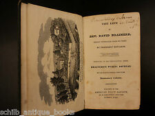 1835 Life of David Brainerd Native American Indians Missionary Jonathan Edwards