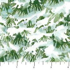 Northcott Winter Birds 21265 72 Snowy Branches BTY Cotton Fabric