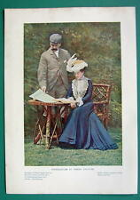 VICTORIAN COUPLE Latest Fashion - 1901 Offset Litho Print COLOR
