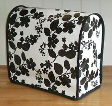 Black Floral Vinyl Cover for KitchenAid and Kenwood kMix Food Mixers
