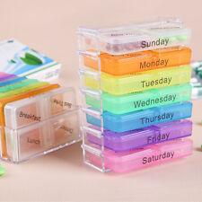 Neu Plastik Pillenbox Pillendose Tablettendose Medikamentenbox 7 Tage