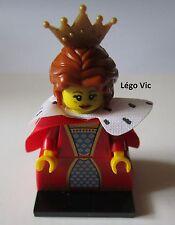 Légo 71011 -16 Minifig Figurine Série 15 Queen Reine  + socle