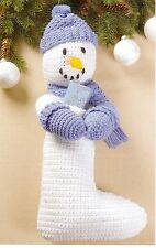 ADORABLE Snowman Stocking/Decor/Crochet Pattern INSTRUCTIONS ONLY